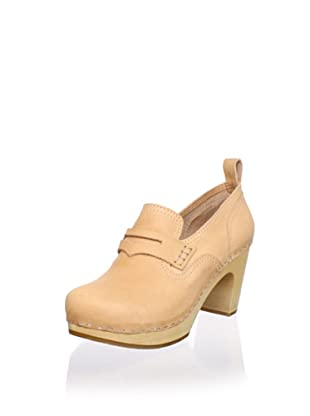 Swedish Hasbeens Women's Loafer Pump (Nature)