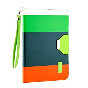 Gearonic Wallet PU Leather Card Holder Magnetic Flip Cover Case Stand for iPad mini, Multi Color (AV-5373EPUIB)