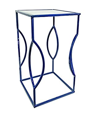 Couture Venice Table, High Gloss Indigo Blue/Clear