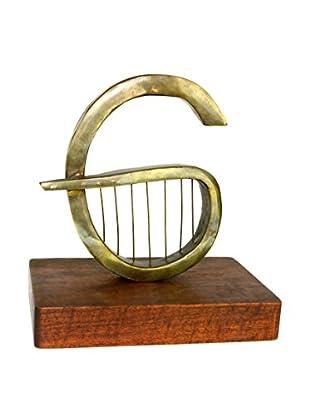 Aviva Stanoff Unsigned Modernist Brass Sculpture, Natural/Brass