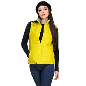 Hannah Edition Solid Yellow Sleeveless Jacket by Yepme