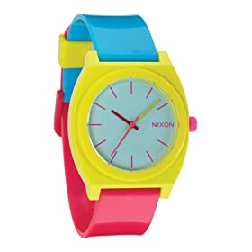 NIXON (ニクソン) 腕時計 THE TIME TELLER P RUBINE/YELLOW/BLUE NA119389-00 ユニセックス
