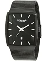 Johan Eric Men's JE1002-13-007 Tondor Tonneau Black IP Mesh Stainless Steel Watch