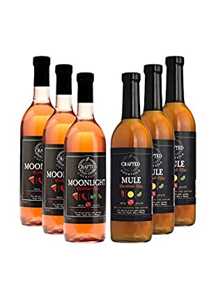 Crafted Cocktails 6-Pack Moonlight & Mule All Natural Low Calorie Cocktail Mix