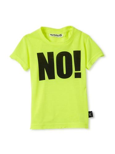 NUNUNU Kid's NO! Tee (Neon)