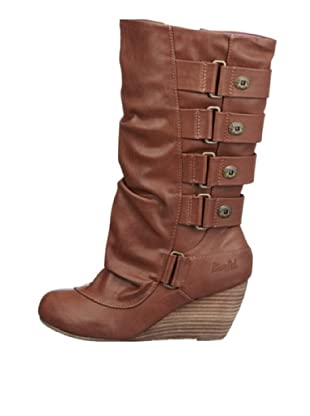Blowfish Bendy Wedges Boot BF2362 AU12, Stivali donna (Marrone (Braun (cognac austin PU BF232)))