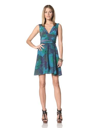 Halston Heritage Women's V-Neck Dress (Midnight)