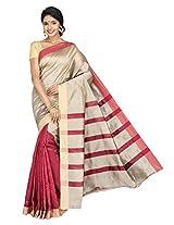 Korni Cotton Silk Banarasi Saree SHDEQ-312- Maroon KR0442