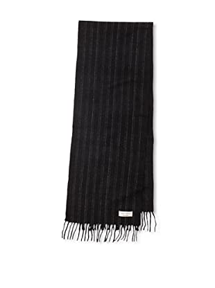Joseph Abboud Men's Double Stripe Scarf (Black)