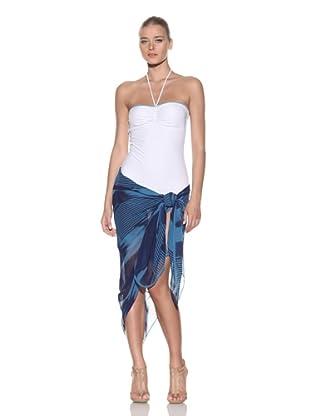 Chris Benz Women's Signature Novelty Sarong (Blue Gauze)