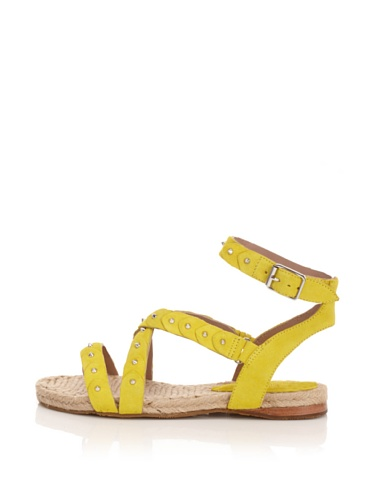 Belle by Sigerson Morrison Women's Studded Scales Sandal (Yellow)