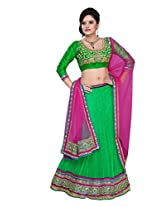 SURUPTA DELICATE GREEN COLOR WEDDING PARTY WEAR Lehenga CHOLI