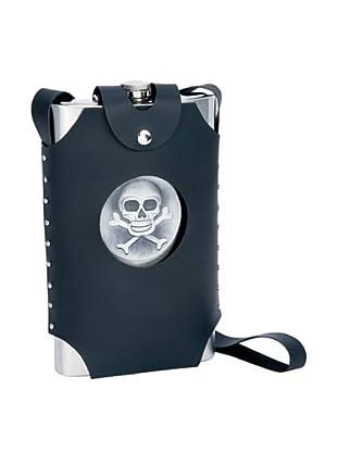 Skull & Crossbones 64-Oz. Party Flask with Vegan Case