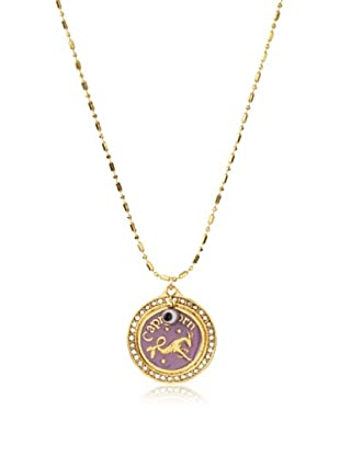 Blee Inara Lilac Capricorn Charm Necklace