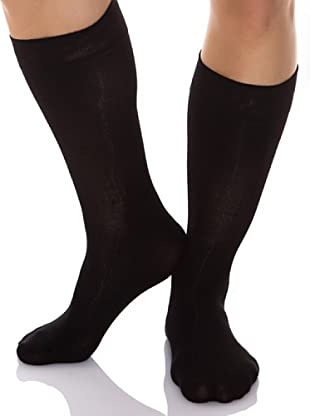 Pierre Cardin Pack 6 Pares Calcetines Lisos (Negro)