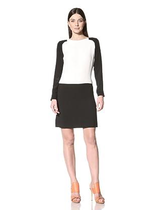 Derek Lam Women's Colorblock Long Sleeve Dress (Ivory)
