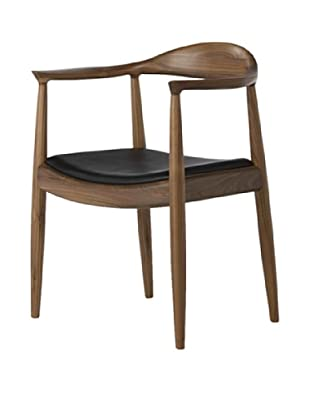 Euro Home Collection Saratoga Chair, Walnut