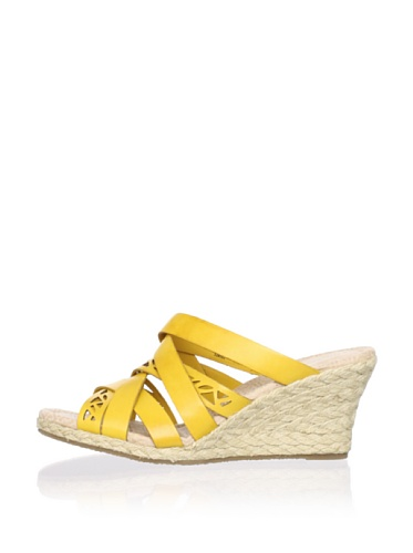 Rockport Women's Emily Laser Cut Wedge Sandal (Yellow)