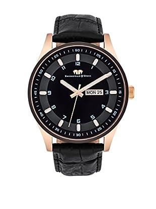 Rhodenwald & Söhne Uhr mit Japanischem Quarzuhrwerk 10010111 schwarz 43  mm