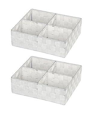 Wenko Aufbewahrungskorb 2er Set weiß one size