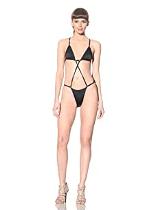 Norma Kamali Women's Alfonso String Monokini (Black)