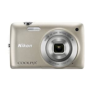Nikon Coolpix S4400 20.1MP Point and Shoot Camera (Silver) with 6x Optical Zoom, 4GB Card and Camera Case