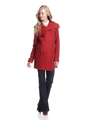 Sam Edelman Women's Kit Coat with Oversize Collar (Rust)
