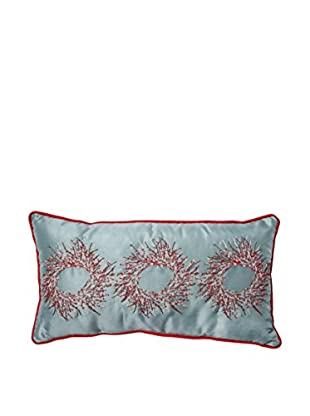 Pillow Perfect Christmas Wreaths Lumbar Pillow