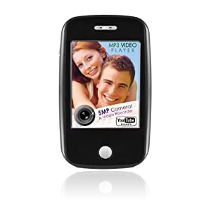 Ematic EM604 4 GB Video MP3 Player with Touchscreen 5MP Video/Still Camera FM Radio and Speaker (Black)