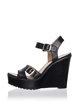 Lisa by Donald J Pliner Women's Kalani Wedge Sandal (Black/black)
