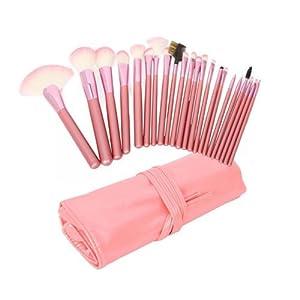 Sixsalmon 22-Piece Pink Make-up Brush Set & Pouch