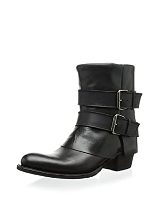 Sendra Women's Debora Fold Over Double Buckle Boot (Black)