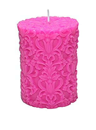 Volcanica Paramount Small Pillar Candle, Hot Pink