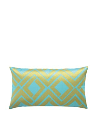 Trina Turk Avenida Maze Embroidered Pillow (Blue/Lime)