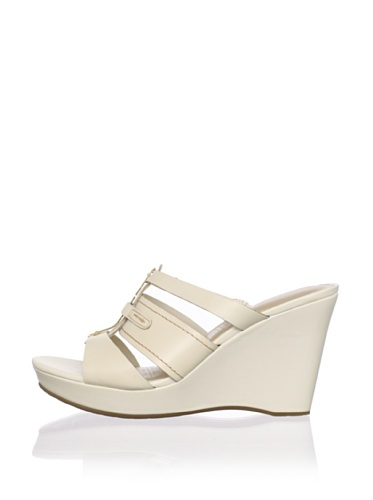 Rockport Women's Locklyn 3 Band Wedge Sandal (Cream)