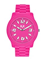 H2X Splash Analog Pink Dial Unisex watch - SF381XF1