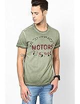 Olive Round Neck T-Shirt