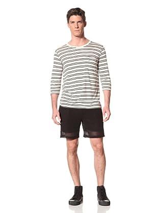Zen Mechanics Men's Halifax 3/4 Sleeve Shirt (Black Stripe)