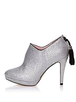 Furiezza Zapatos Abotinados Cremallera (Plata)