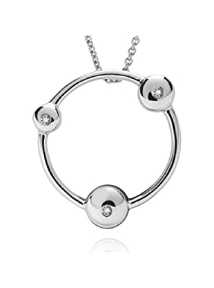 Secret Diamonds 60250094 - Collar de mujer de plata de ley con 3 diamantes