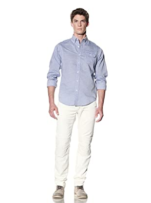 GANT by Michael Bastian Men's Dobby Barre Button-Up Shirt (Dark Blue)