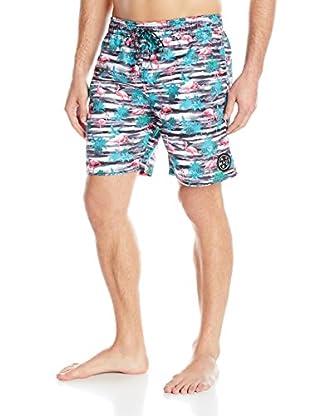 Maui & Sons Men's Flamingo Fusion Boardshort