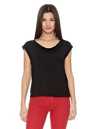 Springfield Camiseta T Espalda Cruzada (Negro)