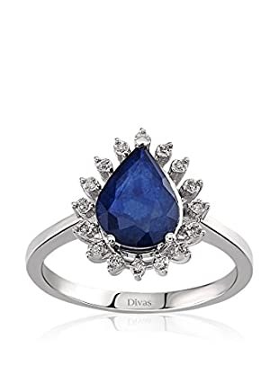 Divas Diamond Anillo Diamond Drop Sapphire