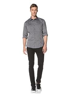 Dorsia Men's Kurt Slim Fit Shirt (Charcoal)