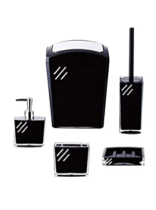 Welcome Home Set Accessori Bagno Nero