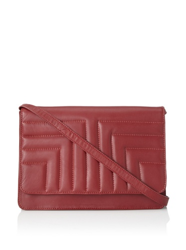 Tuleste Women's Sam Large Cross-Body Convertible Clutch (Ruby)