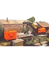 Ho Scale Amtrak Crane And Floodlight Train Car Set