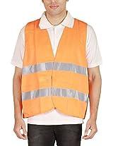 Shree Distributors Men's Orange Reflective Jacket (SDM014_L, Orange, L)