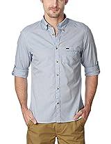 Peter England Greyish Blue Shirt